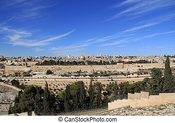 Temple Mount and Golden Gate in Israel - Temple Mount, Dome...