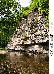 rock formation - natural river channel beside rock formation