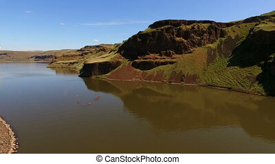 Kayakers Travel Along the Palouse River from the Snake at...