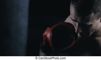 Male Boxer training in Boxing Club