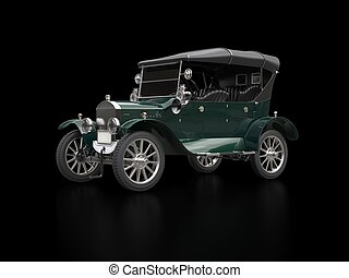 Cool dark green oldtimer car