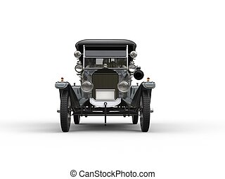 Antique vintage car - front view