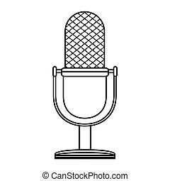microphone retro audio device