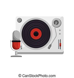 player lp old music vector illustration design