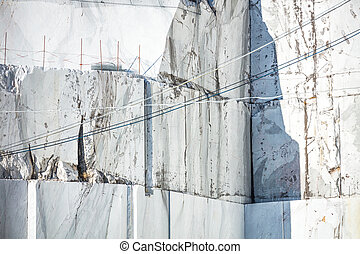 White marble quarry Carrara, Italy - White marble quarry....