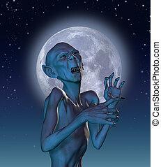Ancient Vampire in Moonlight - Ancient vampire in moonlight....