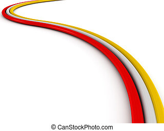 Colored cable isolated on white background High quality 3d...