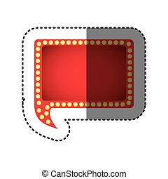 color rectangle chat bubble icon
