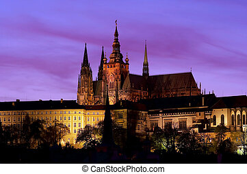 Prague castle at evening - A spacious residential and...