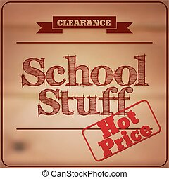 Back to School - retro typography design logos. Sale and clearance labels. Vector illustration.