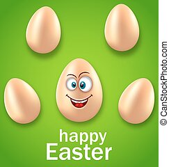 Happy Easter Card with Crazy Egg, Humor Invitation