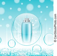 Cream Moisturizing Cosmetic, Template for Ads