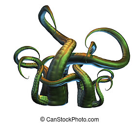 Tentacles - 3D render of octopus tentacles