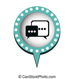 chat bubbles message icon, vector illustration design