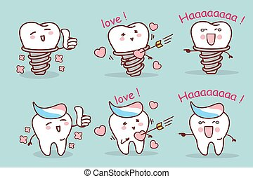teeth with tooth implant