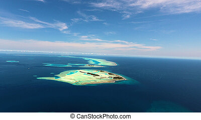 Maldives aerial view