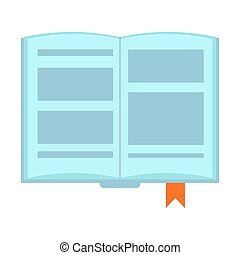 Book icon. Open book on white background. Vector illustration.
