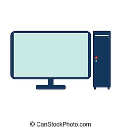 Computer icon. Flat Vector illustration on white background.