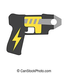 Police Taser. Elements of the police equipment icons....