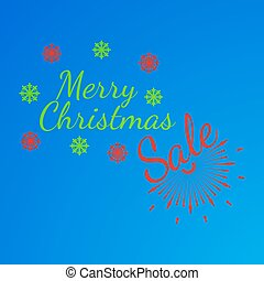 Merry Christmas banner and giftcard. Xmas poster and New Year sign on blue background. Vector Illustration.