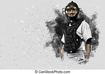 Catcher Baseball Player - Catcher Player with a white...