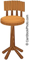 High chair made of wood