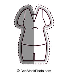 woman dress casual icon vector illustration design