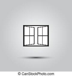 open window icon - Window linear icon symbol or logo