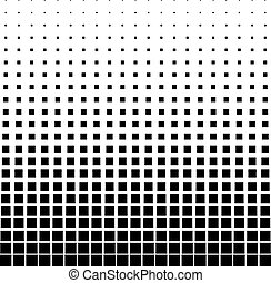 Abstract halftone. Black square on a white background.