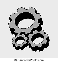 Gears design over gray background vector illustration -...
