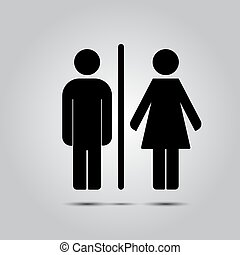 WC toilet icon vector illustration isolated on grey...