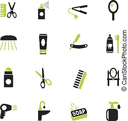 personal care icon set