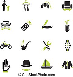 father day icon set - father day web icons for user...