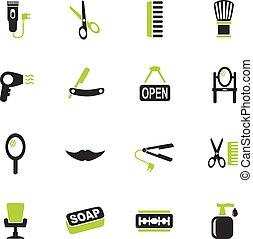 barbershop icon set - barbershop web icons for user...