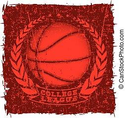 basketball - Vector illustration basketball ball and...
