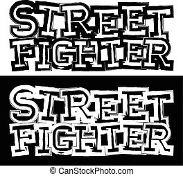 fighter_24 - Inscription street fighter. For tattoo or...