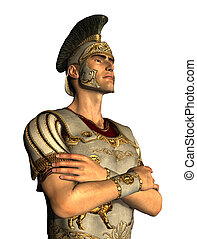 Roman Centurion Portrait - 3D rendered portrait of a Roman...