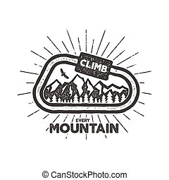 Vector outdoor adventure label. Vintage design with text and...