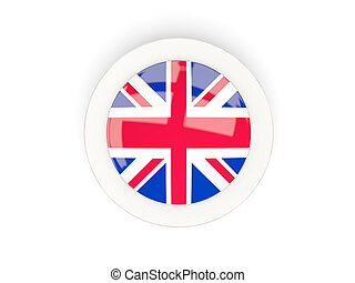 Round flag of united kingdom with carbon frame