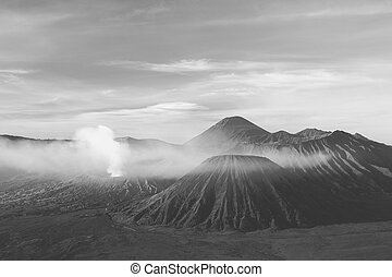 Gunung Bromo at dawn - Early morning after sunrise view of...