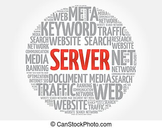 Server word cloud, business concept