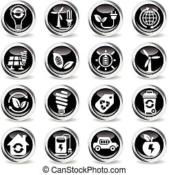alternative energy icon set - alternative energy icons on...