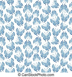 Seamless background with white butterflies. Vector eps10 -...