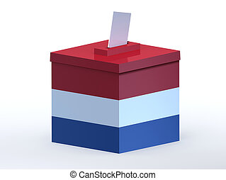 Dutch election ballot box, 3d illustration