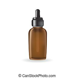 essential oil package isolated on white background -...