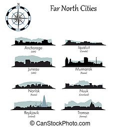 Far north cities collection - Far north vector cities...