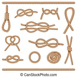 Abstract rope elements. Vector illustration. - Abstract rope...