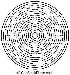 Circular concentric arrows. Cyclic, cycle arrows. Arrow...