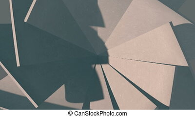 Abstract background with paper kaleidoscope