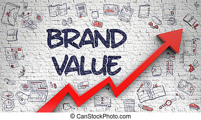 Brand Value Drawn on Brick Wall. - Brand Value - Enhancement...
